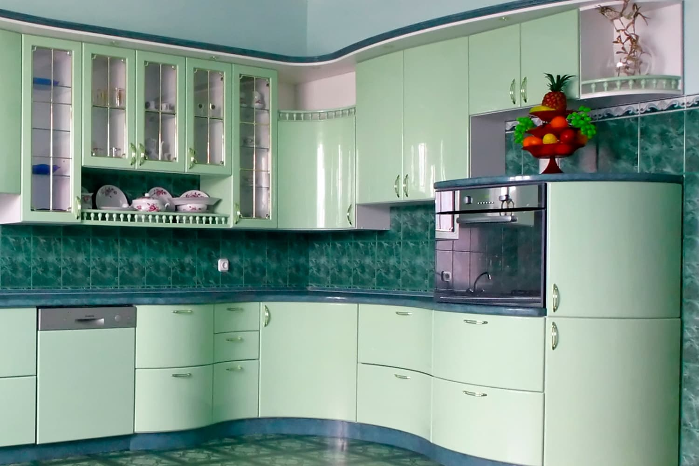 Кухни мдф с гнутыми фасадами фото